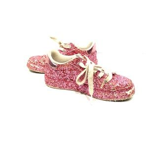 Girls Guess pink glittery sneakers